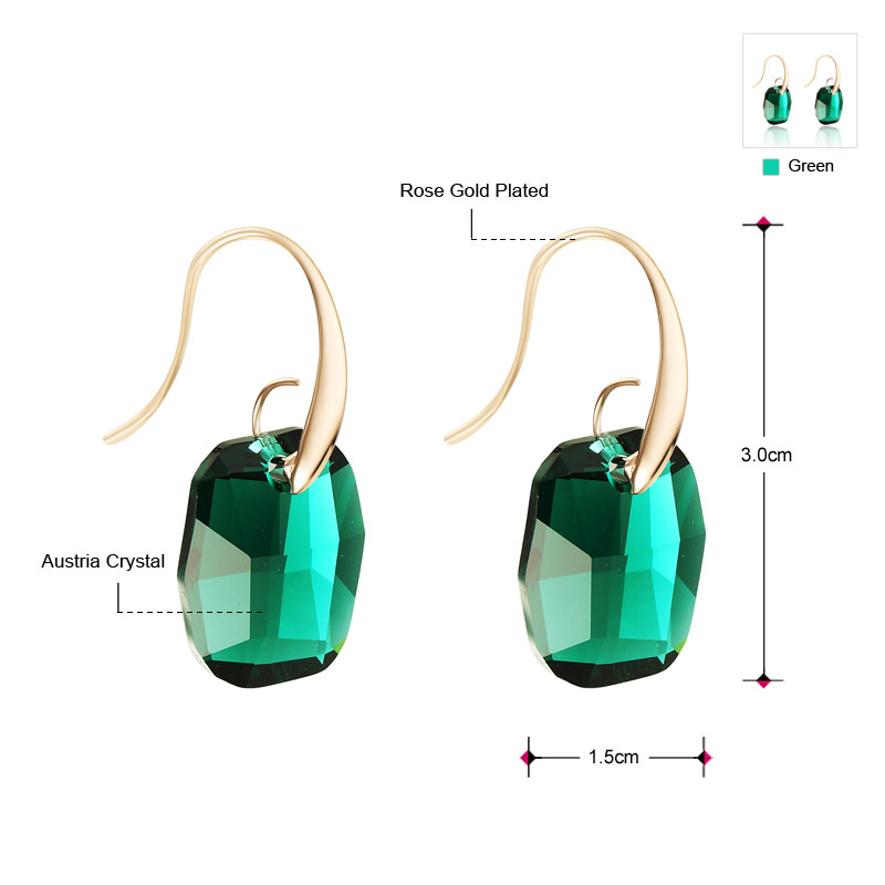Neoglory Light Yellow Gold Color Austrian Crystal Big Chandelier Drop Earrings for Women 2020 New Indian Style Green Jewelry JS9