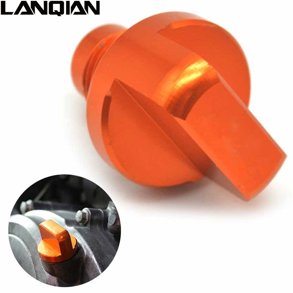 Orange CNC Motorcycles Engine Oil Filler Cap Plug cup Plate Brake Bracket screw For KTM DUKE 125 200 390 RC200/390 with for ktm logo 125 200 390 690 duke rc 200 390 motorcycle accessories cnc engine oil filter cover cap