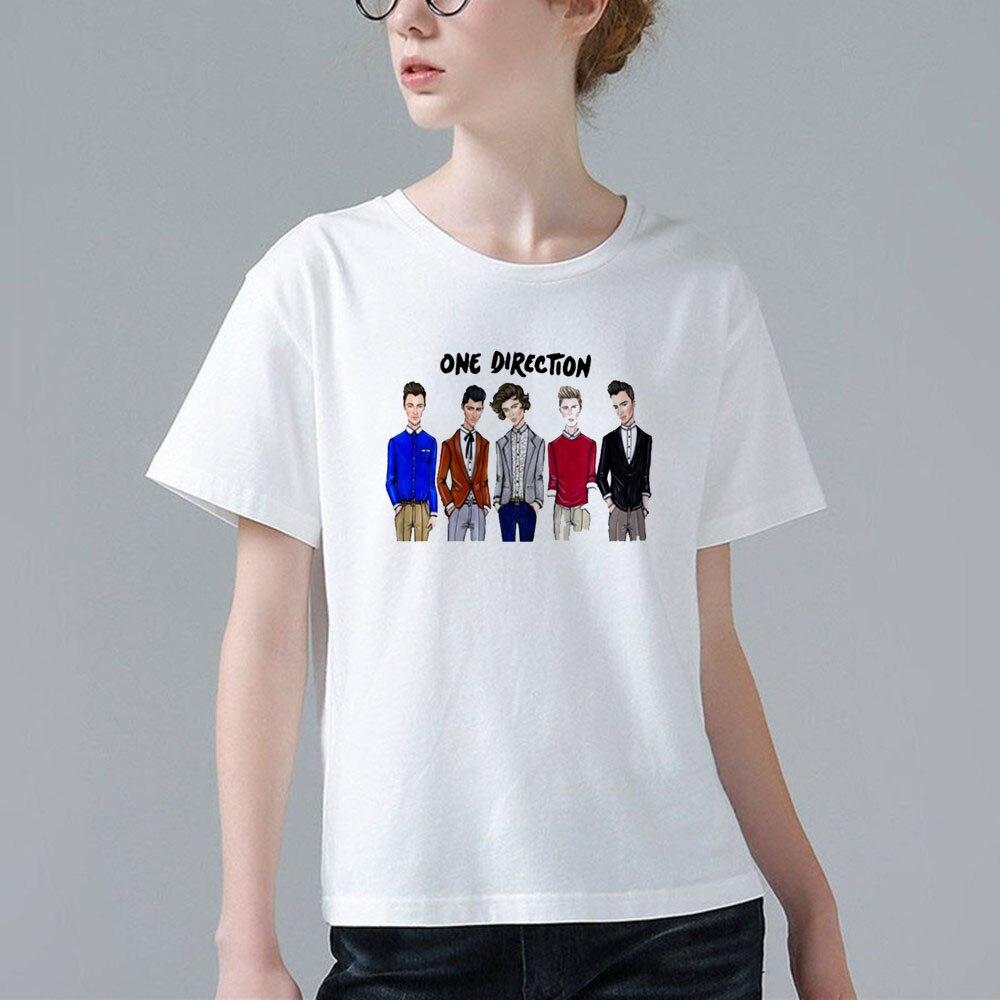 Design t shirt one direction - Unique Design 1d T Shirt Women S Short Sleeve One Direction T Shirts Fashion Tops Summer