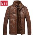 New Winter Brand Jacket Men Pu Leather Moto Suede Mens Jackets And Coats Casual Windbreaker Male Plus Size 5XL Clothing X468