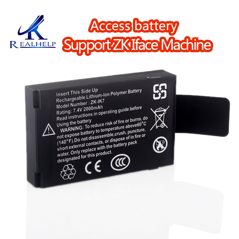 ZK IK7 Rechargeable Lithium-lon Polymer Battery 7.4v 2000mah Built-in Battery Rechargeable Battery For ZK Iface Machine