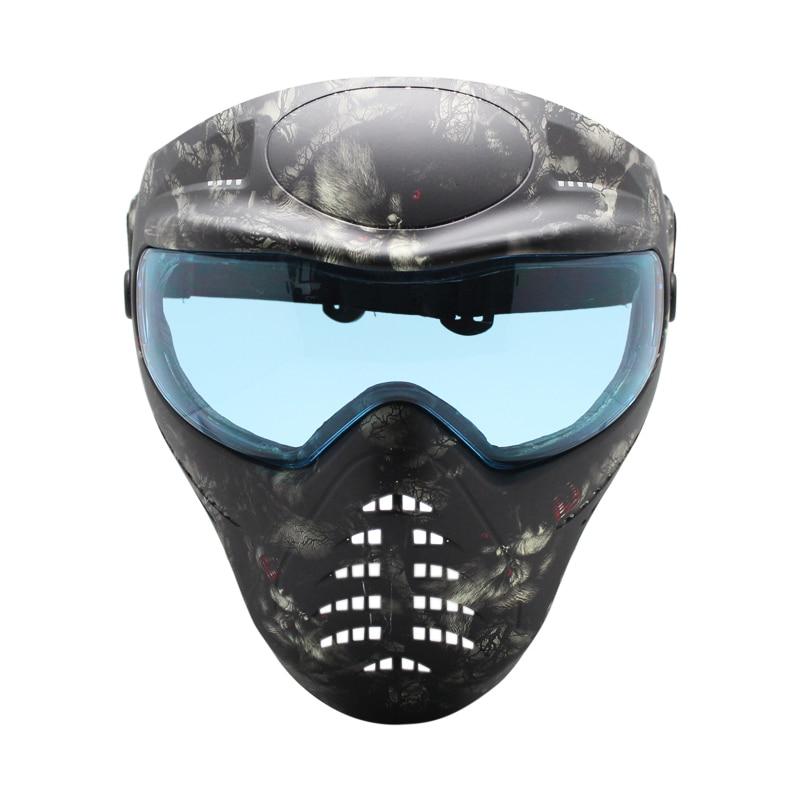 Phantom Series Paintball Mask with Anti Fog Colorful Single Lens