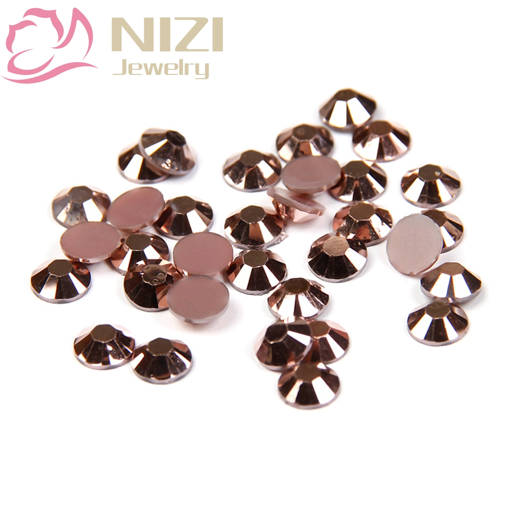 Flatback Crystal Resin Rhinestones 2-6mm Copper Color 14 Facets For 3D Nail Art Decorations DIY Non Hotfix Stone 2016 New Design ss4 1 5 1 6mm lt siam red 1440pcs bag non hotfix flatback rhinestones glass glitter glue on loose diy nail art crystals stones