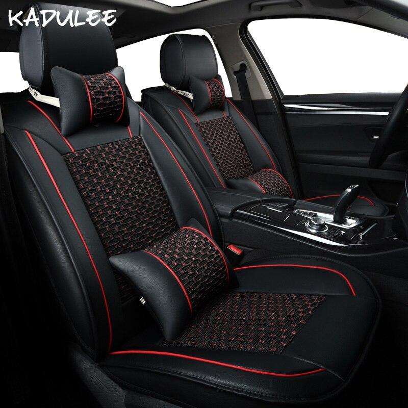 KADULEE soie de glace siège de voiture couvre pour ford ranger mercedes w202 hyundai ix35 ix25 opel corsa d zafira un geely mk voiture accessoires