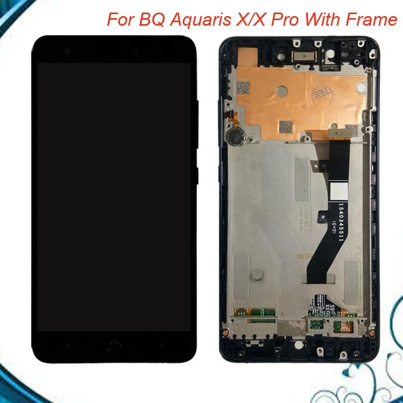 Testé Travail Pour BQ Aquaris X lcd écran Aquaris X Pro LCD Display + écran Tactile Avec Cadre Livraison Gratuite