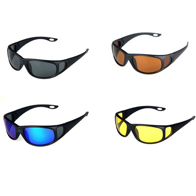 все цены на High Quality Polarized Fishing Sunglasses Men Women Night Vision Goggles Driving Glasses Anti Glare Riding Sunglass with Box онлайн