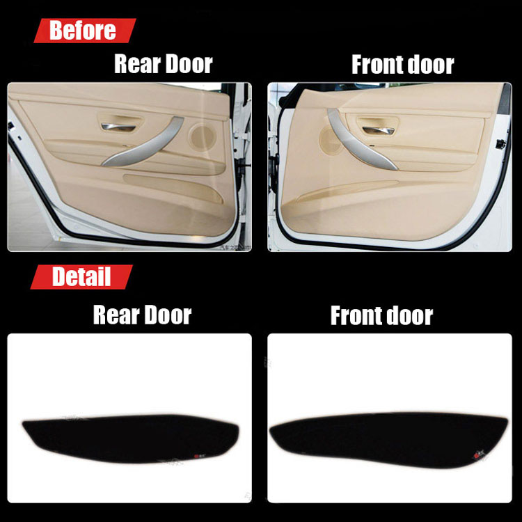 Ipoboo 4pcs Fabric Door Protection Mats Anti-kick Decorative Pads For BMW 3 Series 2013-2015 ipoboo 4pcs fabric door protection mats anti kick decorative pads for hyundai elantra 2012 2015