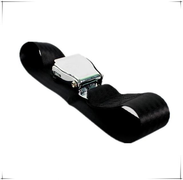 10 unids/lote Nueva 59 cm Negro Largo Ajustable Cinturón de seguridad del Avión Aerolínea Cinturón de Seguridad de Acero Inoxidable Extensores