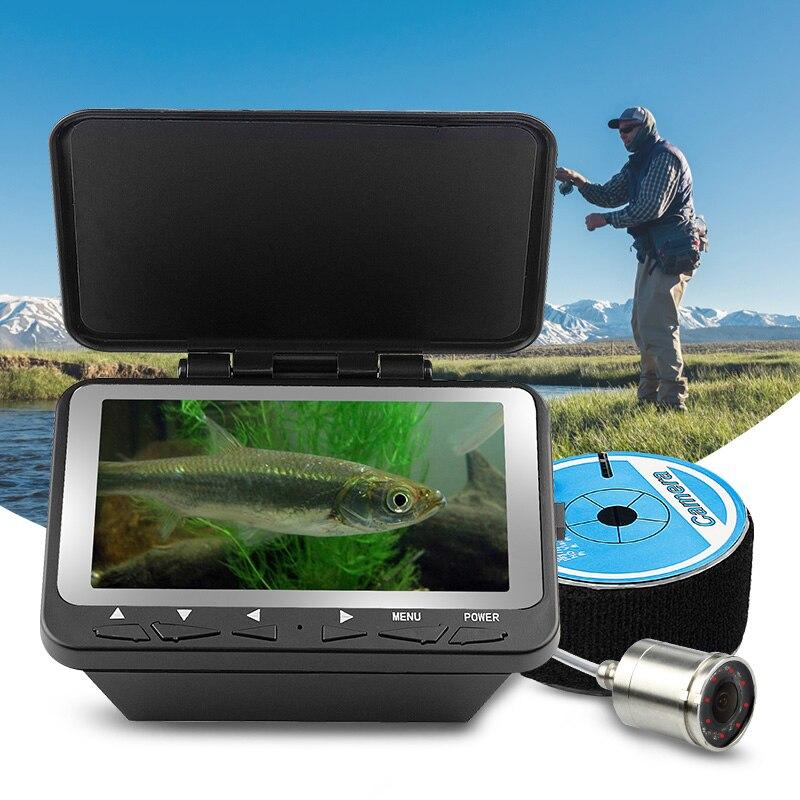 Erchang 20 m Fish Finder Cable LED infrarrojo 4,3 ''monitor HD 1000TVL Cámara subacuática de la pesca del hielo en inglés ruso