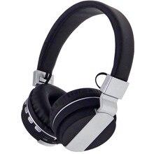 Estéreo bluetooth auriculares bluetooth wireless headset auriculares con micrófono de radio de la ayuda fm sd + 8g tf aux para iphone 7 6 android