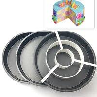 Vận chuyển miễn phí New Cờ Khuôn Bánh 3 Không Dính Baking Pan Tin Divider Set DIY Bakeware 8 '' Bánh Pizza Pan