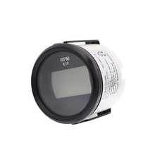 52 m Motorcycle Tachometer Auto Hourmeter for e Auto Outboard Motor Rev Counter Tacho Meter 12V/24V  RPM Meter j48s jc48s textile meter counter electronic ac220v 24v