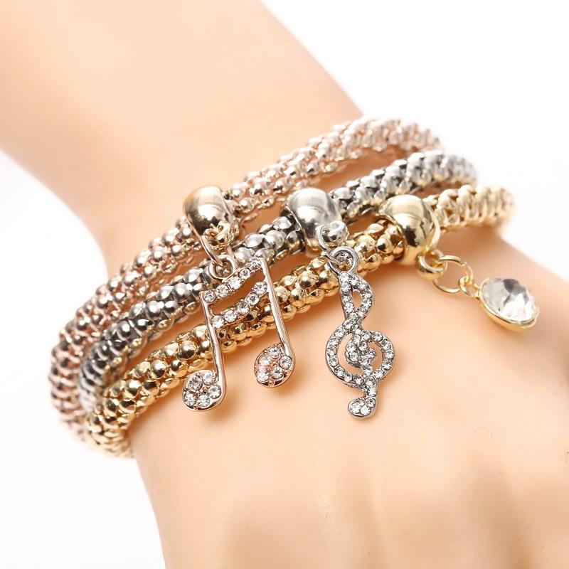 Nice Jewelry Gift Music Note Charm Pendant Bracelet