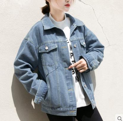 Bf Wind Autumn Women Denim Jacket 2018 Vintage Oversize Loose Jeans Coat Solid