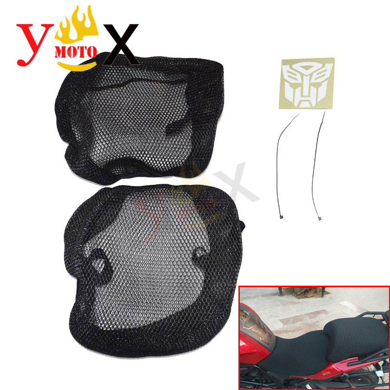Motorcycle Modified Black Front Rear Set Seat Net Cover Pad Guard Insulation Breathable For BMW R1200GS