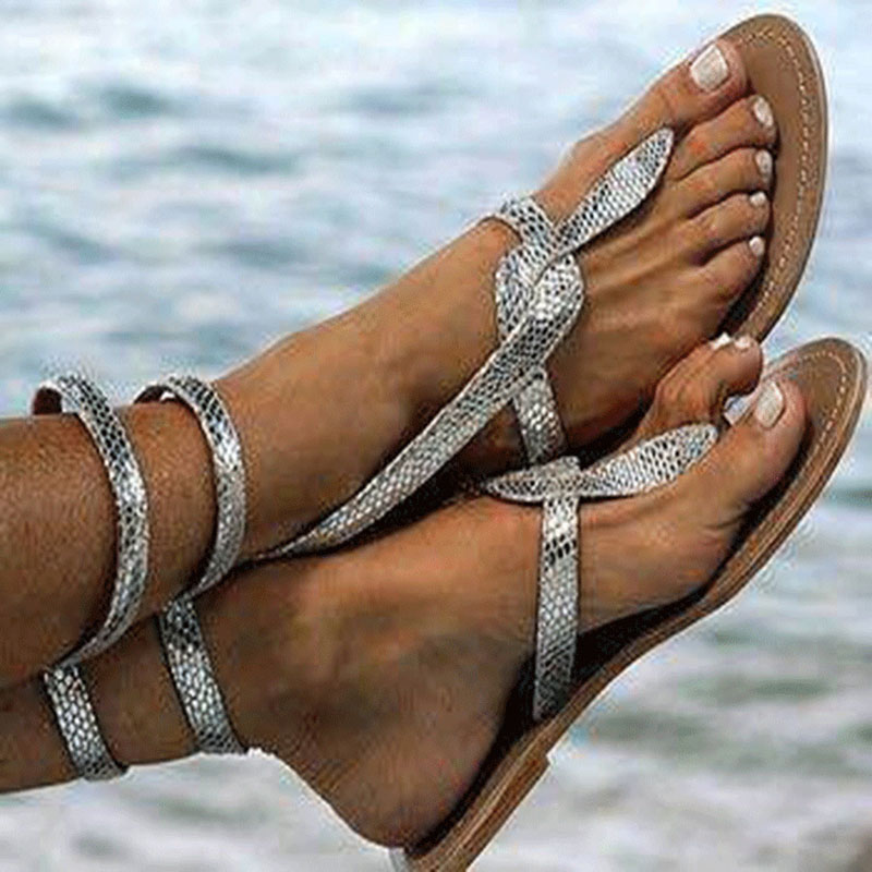 2017 Woman Sandals bling Gladiator Flat Sandals Crystal Shoes Women Chaussure Sequin cloth tenis feminino