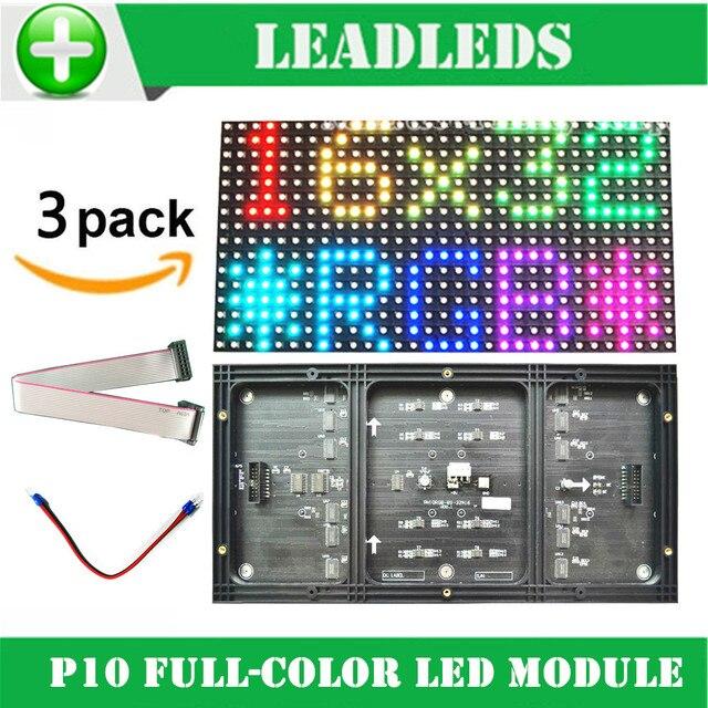 3 ШТ. P10 светодиодный модуль полноцветный rgb 1/8 сканирования 320*160 мм smd 3 в 1 году Крытый p10mm Светодиодный модуль знак Для Рекламы, СВЕТОДИОДНЫЕ Табло
