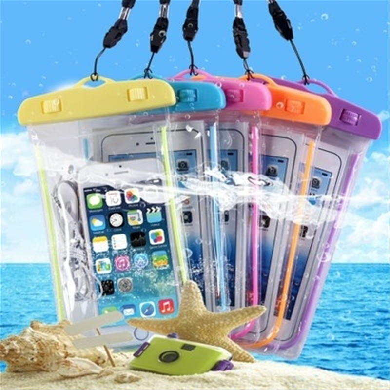 6 Inch Summer Diving Bag Waterproof Pouch Swimming Beach Skiing Dry Bag Case Water Sports Bags Cover Holder For Phone Wallet