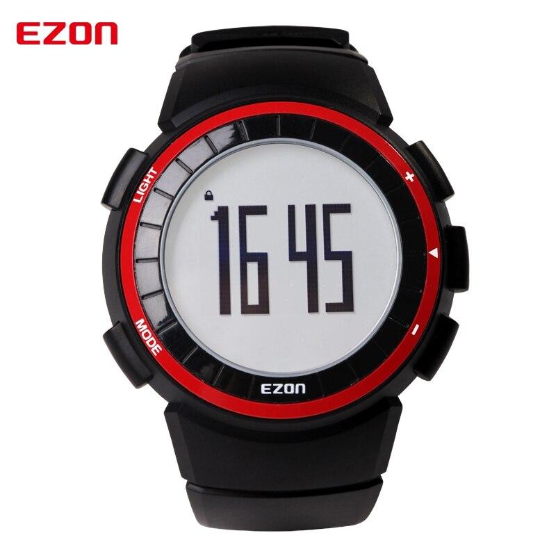 EZON Outdoor Sport Wristwatches T029 Pedometer Calories Counter 50M Waterproof Stopwatch Alarm Digital Watches for Men Women