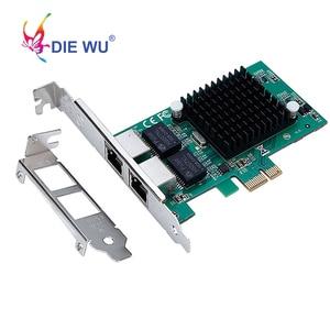 Image 2 - Intel82575 כפולה יציאת RJ45 נמל NIC 10/100/1000 Gigabit PCI Express pcie x1 רשת שרת מתאם כרטיסי TXA020