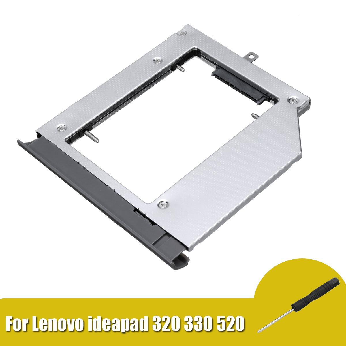 ShirLin Notebook Hard Disk Drive 2nd HDD SSD Hard Drive Caddy For Lenovo ideapad 320 330 520 with Screwdriver