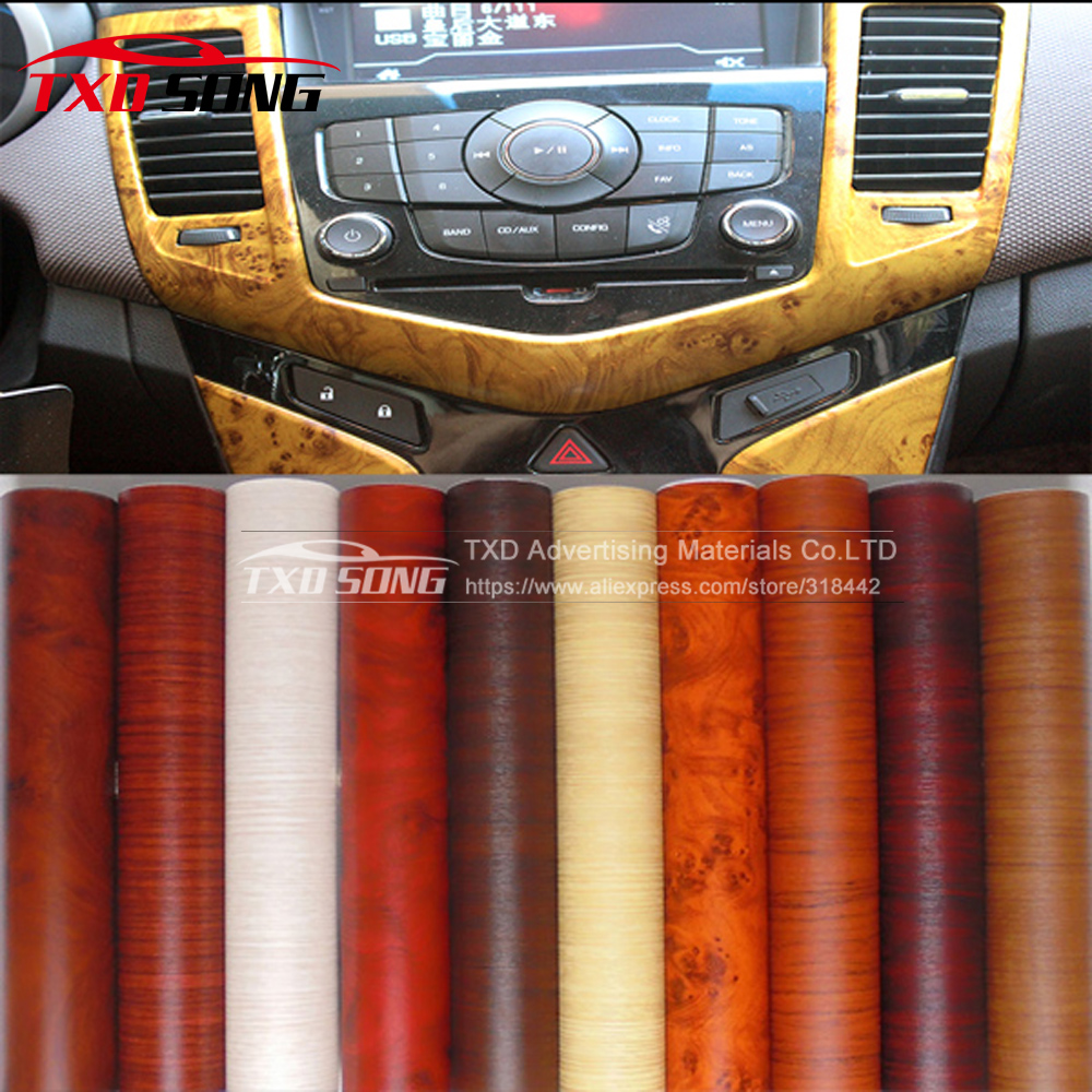 40cmx124cm self adhesive pvc texture wood grain vinyl wood pvc sticker for car interior. Black Bedroom Furniture Sets. Home Design Ideas