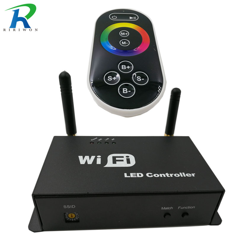 RiRi won smd rgb led strip light wifi contrroller DC 12V for full color Wifi led controller music and timer mode