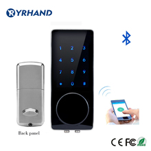 Silver Zinc Alloy Home Smart Bluetooth Electronic Touch Scre