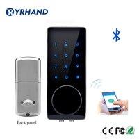 Zilver Zinklegering Thuis Smart Bluetooth Elektronische Touch Screen Code Wachtwoord Lock Deadbolt Deurslot Unlock Door App Code Sleutel