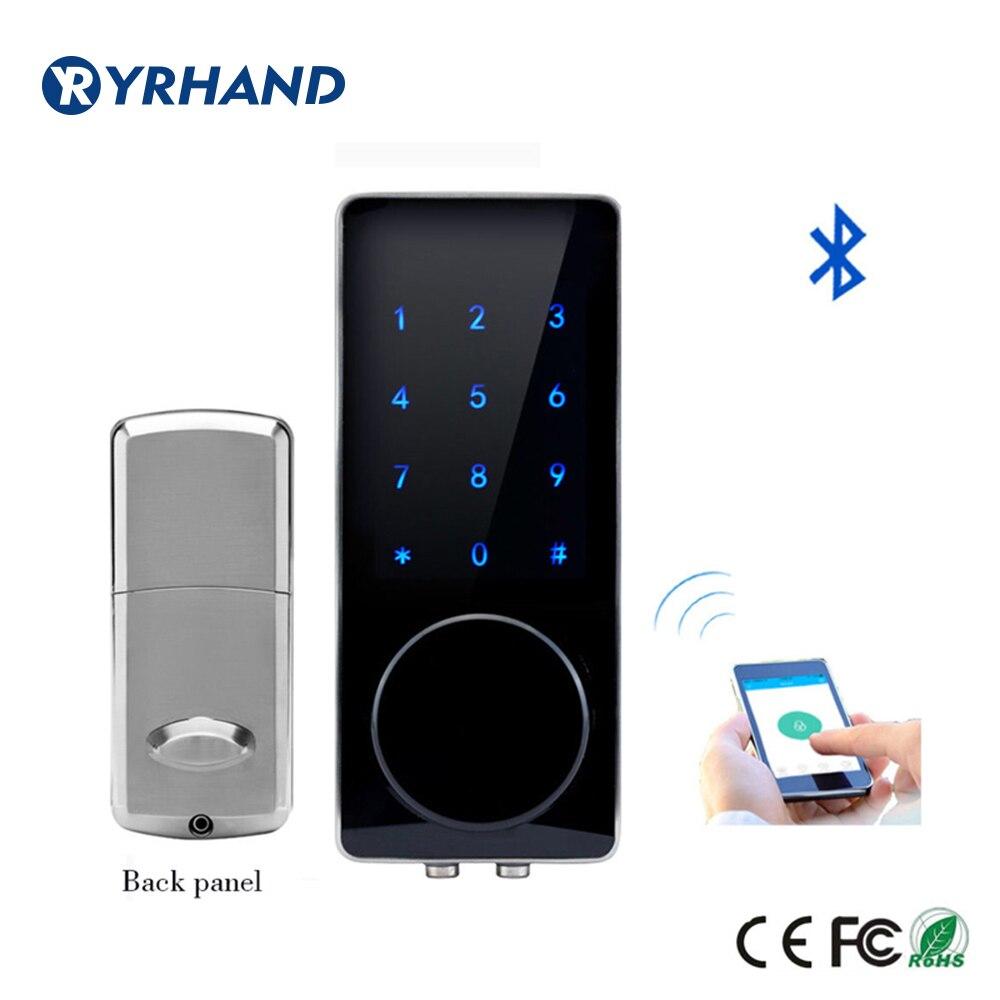 Zilver Zinklegering Thuis Smart Bluetooth Elektronische Touch Screen Code Wachtwoord Lock Deadbolt Deurslot Unlock door App Code Sleutel-in Elektrisch slot van Veiligheid en bescherming op AliExpress - 11.11_Dubbel 11Vrijgezellendag 1