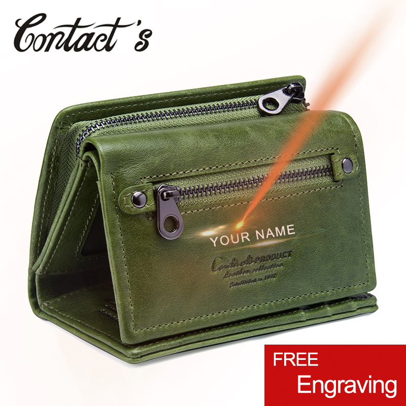 2018 New Fashion Design Women Wallets Genuine Leather Trifold Purse With Zipper Card Photo Holder Wallet For Woman High Quality
