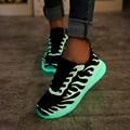 Fashion new arrival Led light women shoes 2017 casual Breathable Led women shoes luminous women shoes