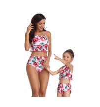High Leg Bandeau Bikini Set Swimwear Female Two Pieces Swimsuit High Waist Bikini Bathing Suit Biquini Swimming Suit for Women