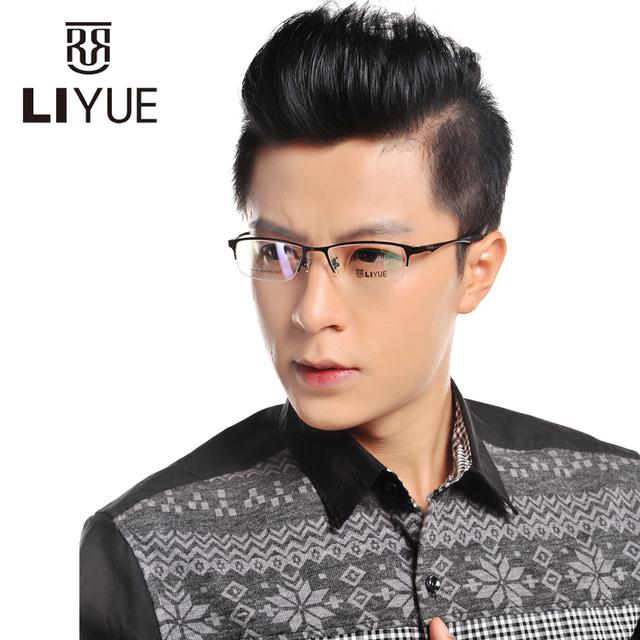 Armações de óculos de titânio 2016 mira óptica armações de óculos óculos de miopia óculos de leitura para homens Prescrição eyewear LY9527