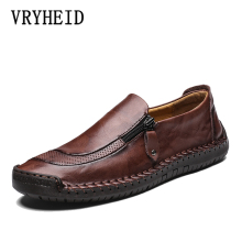 VRYHEID Brand Genuine Leather Men Shoes Fashion Casual shoes