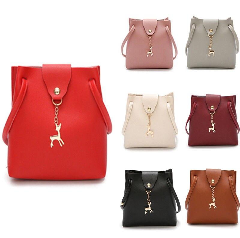 US Women Bag Shoulder Bags Messenger Leather Handbags Vintage Crossbody Bag