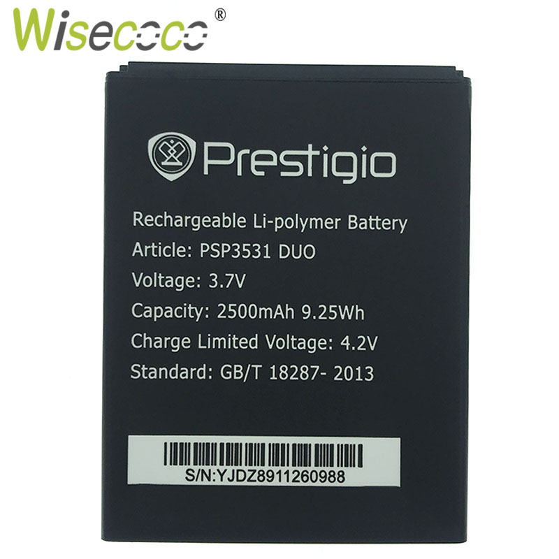 Wisecoco Phone Battery Tracking-Code PSP3531 A7 Ce PSP7530 Replace Prestigio DUO Muze