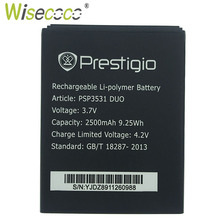 цена на Wisecoco PSP3531 DUO Battery For Prestigio PSP 3531 DUO PSP7530 PSP3532 DUO Muze D3 E3 A7 Phone Battery Replace +Tracking Code