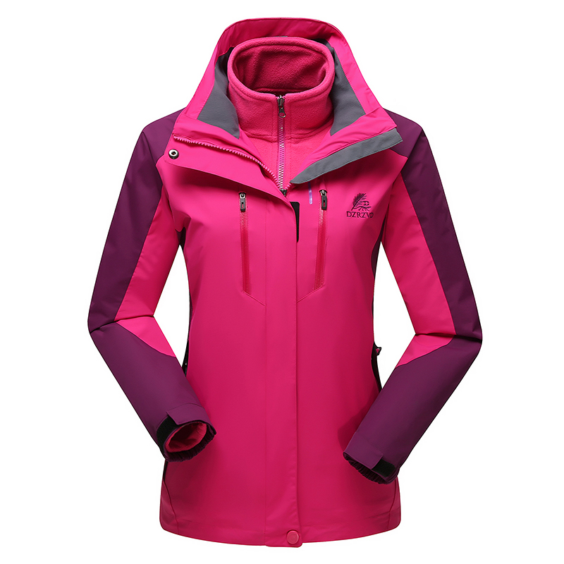 New 3in1 Warm Leisure Sports Chaquetas Mujer Outdoor Hiking Camping Winter Jacket Women Windproof Waterproof Hoodie Ski Coat men and women winter ski snowboarding climbing hiking trekking windproof waterproof warm hooded jacket coat outwear s m l xl