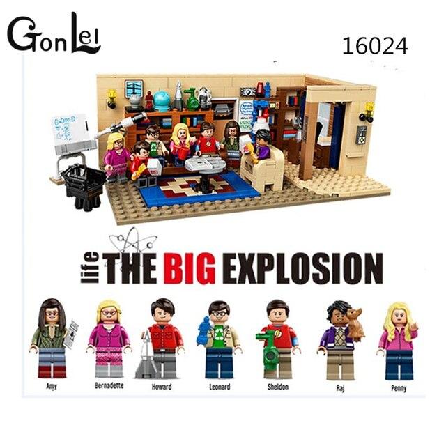 GonLeI 16024 Ideen Serie Die Big Bang Theorie Modell Baustein Kompatibel  21302 Klassische Haus Wohnzimmer Spielzeug