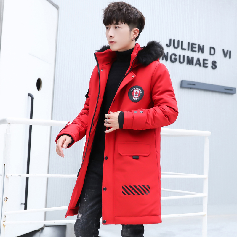 Hombres Chaqueta Acolchada Nieve Los 3xl rojo Parka De Con Ropa Negro Negro Algodón Larga Invierno Abrigo Capucha Rojo gqfE1