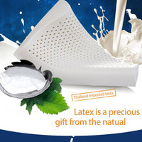 NATURAL LATEX PILLOW SOFT FLEXIBLE NECK SUPPORT WITH AIR FLOW