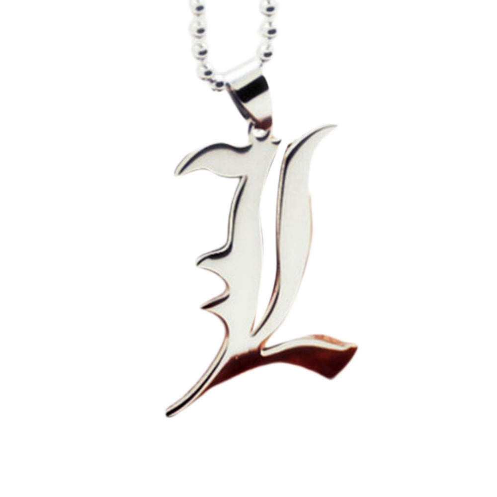 Japan Anime Death Note Silicone L Metal Necklace Pendant chains Cosplay Jewelry
