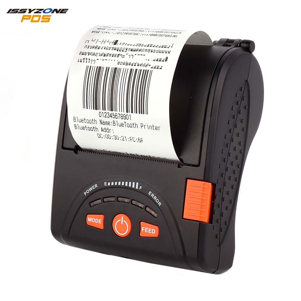 Issyonzepos 58 Thermal Printer Mini Portable Android IOS Bluetooth Ticket Thermal Printer Bluetooth Receipt Printer Loyverse SRS