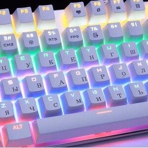 Image 4 - Metoo Edizione Tastiera Meccanica 87 tasti Blu Interruttore Tastiere Da Gioco per Tablet Desktop autoadesivo Russo