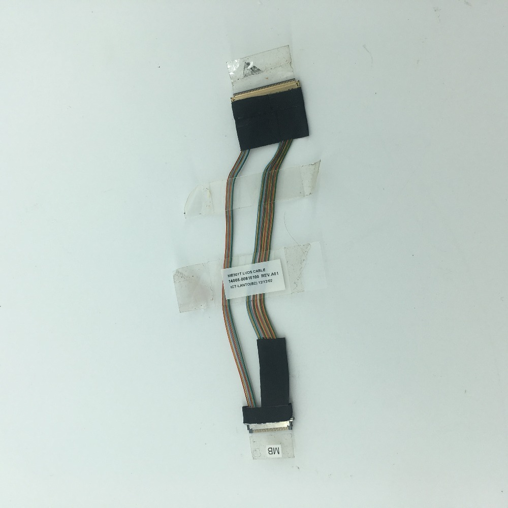 ME301T LCD Video LVDS CABLE 14005-00810100 REV.A01 LCD Flex Ribbon Cable Replacement Parts For Asus Memo Pad Smart ME301 K001