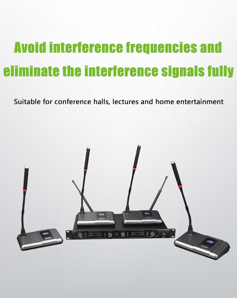 NTBD Conference Speak Anchor 4 беспроводной микрофон с приемником аудио усилитель системы