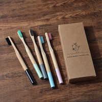 Paquet de 5 brosses à dents adultes en bambou soies souples écologiques cepillo dientes bambu brosse à dents de soin buccal clareador de dente