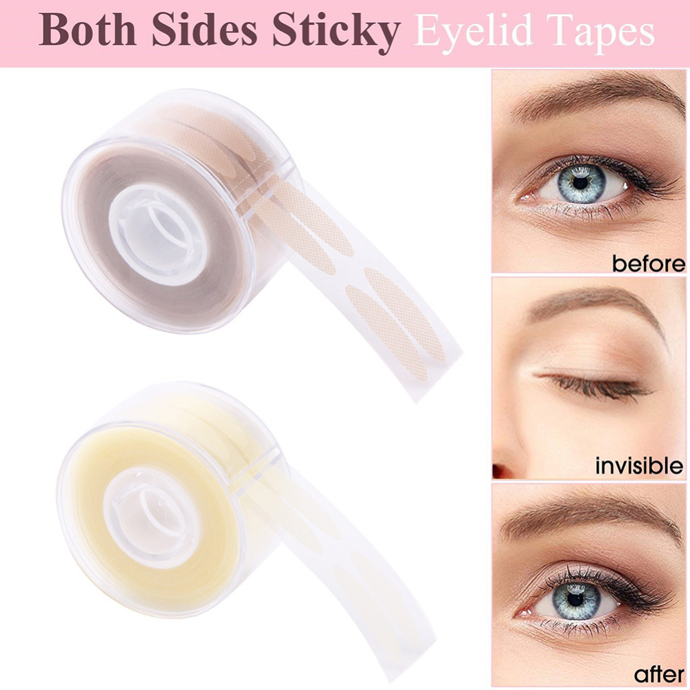 600pcs S/L Makeup Clear Beige Eyelid Stripe Big Eyes Decoration Eyelid Sticker Double Fold Self Adhesive Eyelid Tape Stickers