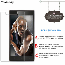 2pcs Screen Protector For Lenovo P70 Tempered Glass For Lenovo P70 P70T P70A Thin HD Toughened Protective Film + Cleaning Kit for lenovo p70 lcd display screen and touch screen dogotozer assembly for lenovo p70 p70 t p70t black white
